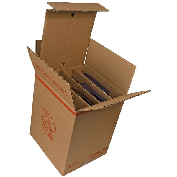 20er Kombiwell Flaschenkarton liegend 385x360x485 mm