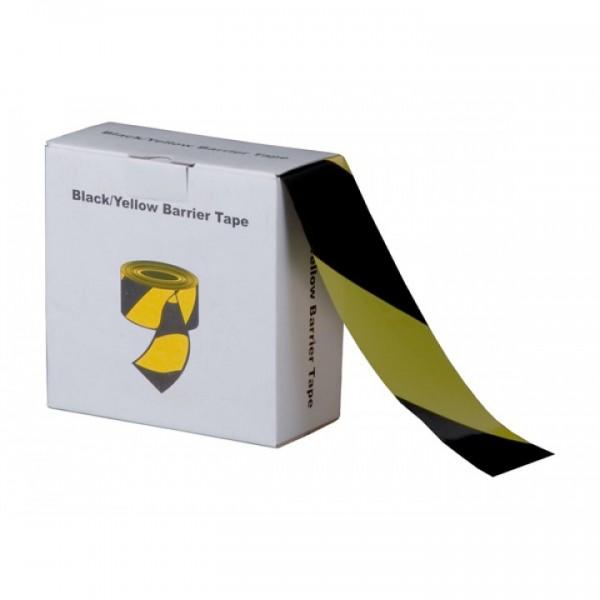 gelb-schwarzes Absperrband - 72 mm x 500 m