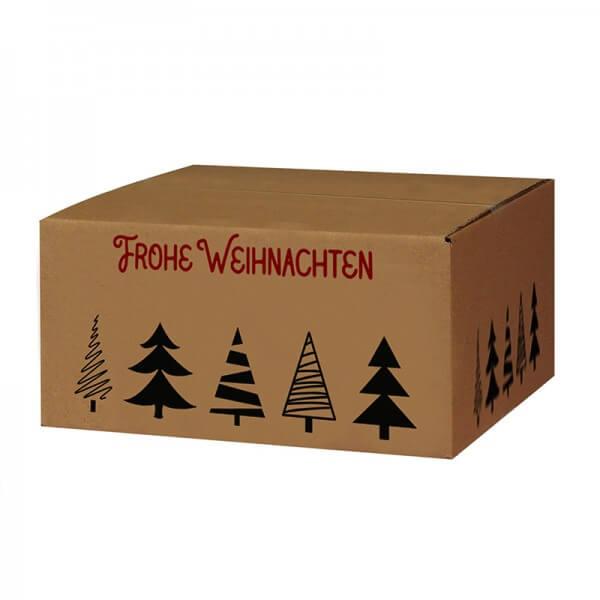 bedruckte Weihnachtskartons Tannenbaumallee 300x215x140 mm B 1.20 b