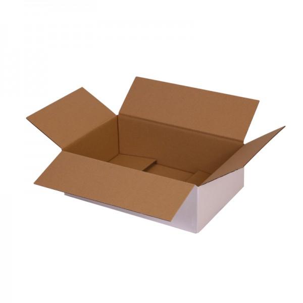 einwellige Kartons, weiß 295x195x90 mm  - offen
