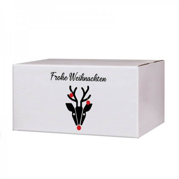 Kartons mit Weihnachtsmotiv Hirschkuh Alois 200x150x90 mm