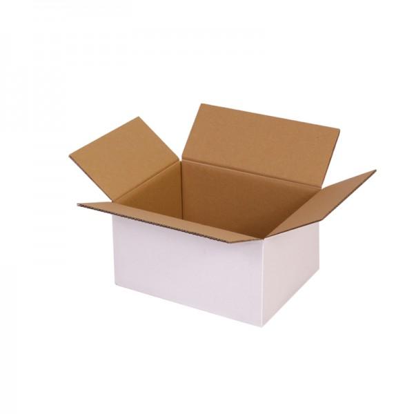 zweiwellige Kartons, weiß 217x172x110 mm - offen