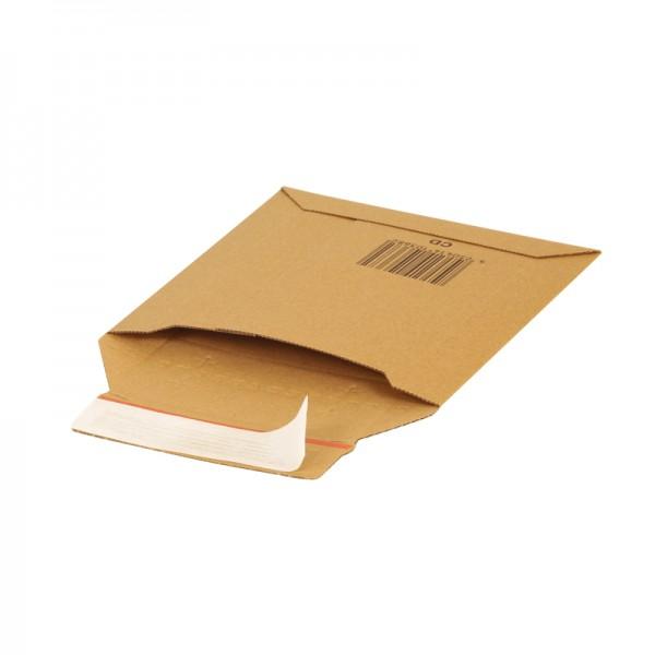 braune Versandtaschen aus Wellpappe CD 190x145 mm