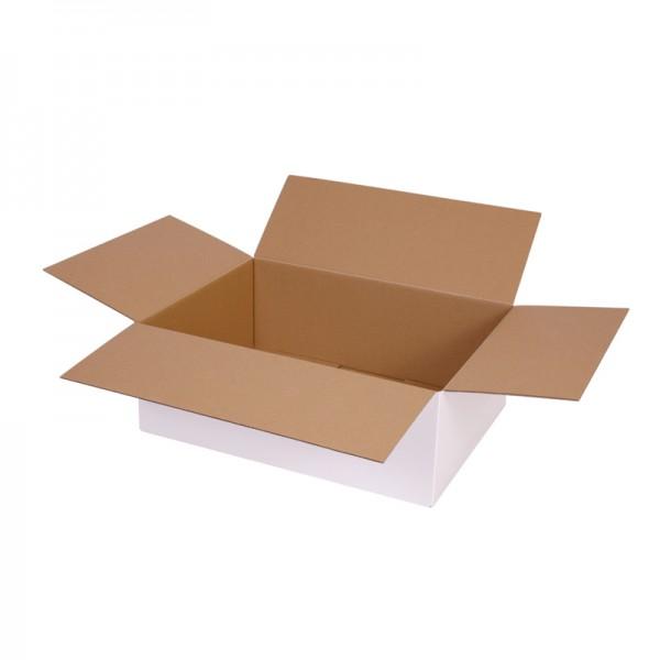 einwellige Kartons, weiß 395x295x140 mm - offen