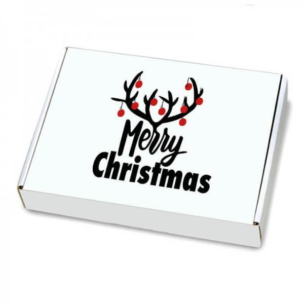 Maxibriefkartons mit Weihnachtsmotiv 350x250x50 mm Christmas Bells