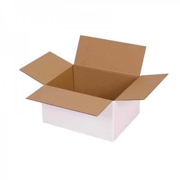 einwellige Kartons, weiß 217x170x110 mm - offen