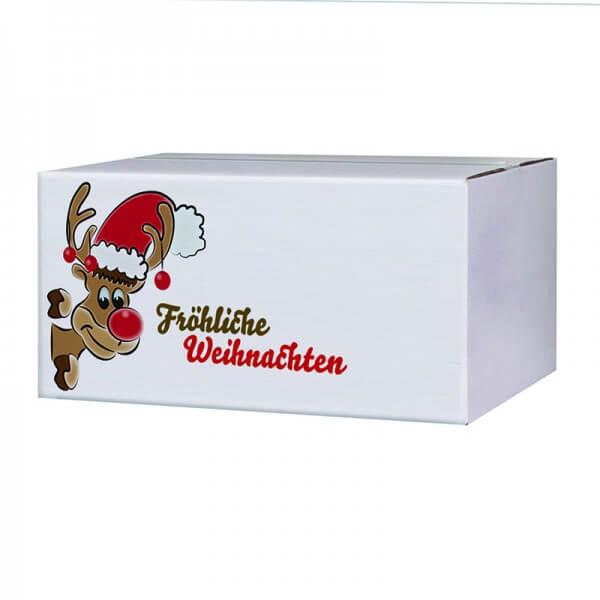 "bedruckte Weihnachtskartons ""Mr.Holly"" 400x300x200 mm, B 1.30 w"