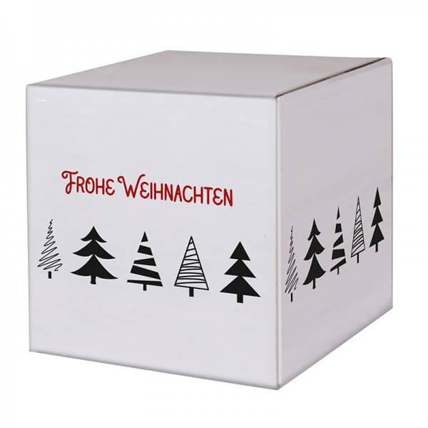 """bedruckte Weihnachtskartons """"Tannenbaumallee"""" 300x300x300mm, B 1.30 w"""