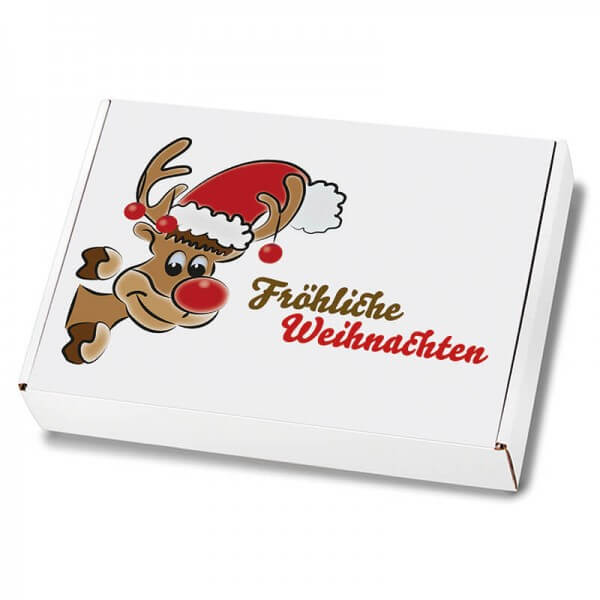 Weihnachtskartons Maxibrief Mr. Holly 250x174x50 mm