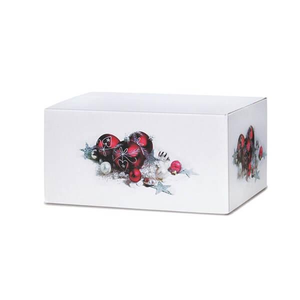 Klassisch bedruckte Weihnachtskartons 300x215x140 mm Motiv Weihnachtsschmuck