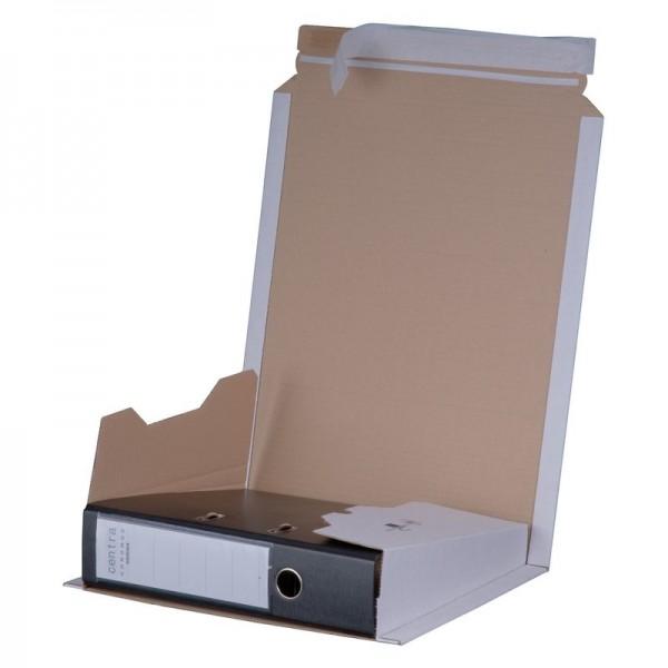 Ordner- Versandverpackung A4+ Weiß 320x290x35-80 mm