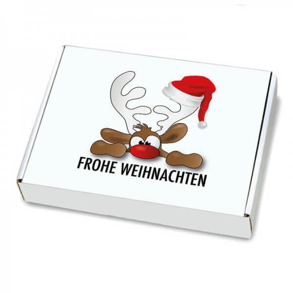 Maxibriefkartons mit Weihnachtsmotiv 350x250x50 mm Rudolph der Elch