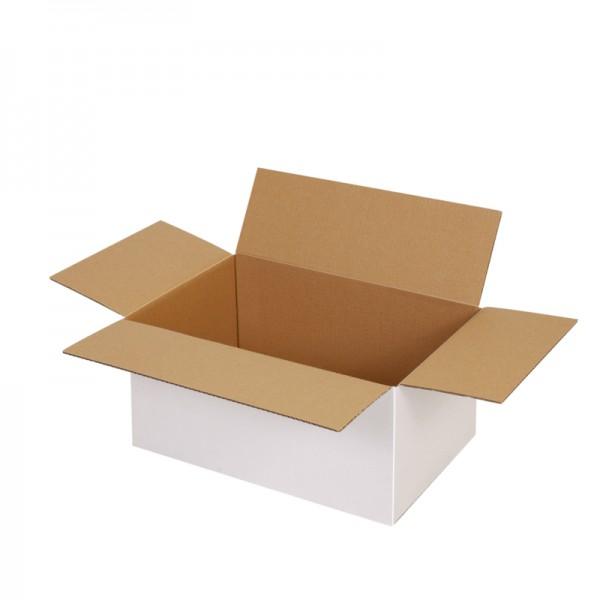 einwellige Kartons, weiß 295x195x140 mm - offen