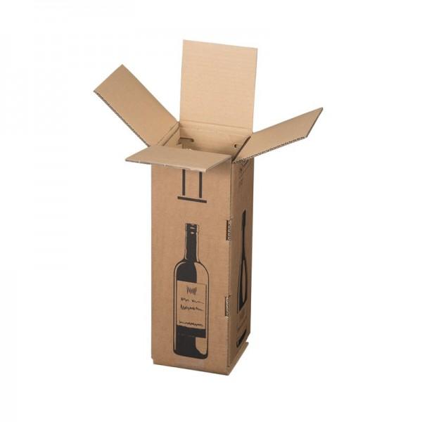 1 er Flaschenverpackung für Wein - Sekt Magnumflaschen