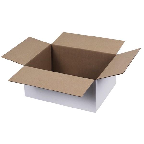 Weiße Kartons 250x150x100 mm einwellig
