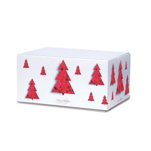 Modern bedruckte Weihnachtskartons 300x215x140 mm Motiv Tannenbaum