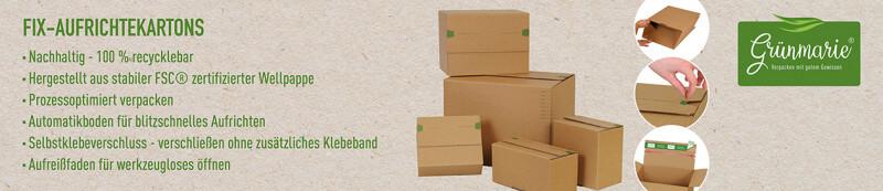 Grünmarie® Fix-Aufrichtekartons - Nachhaltig - 100% recyclebar