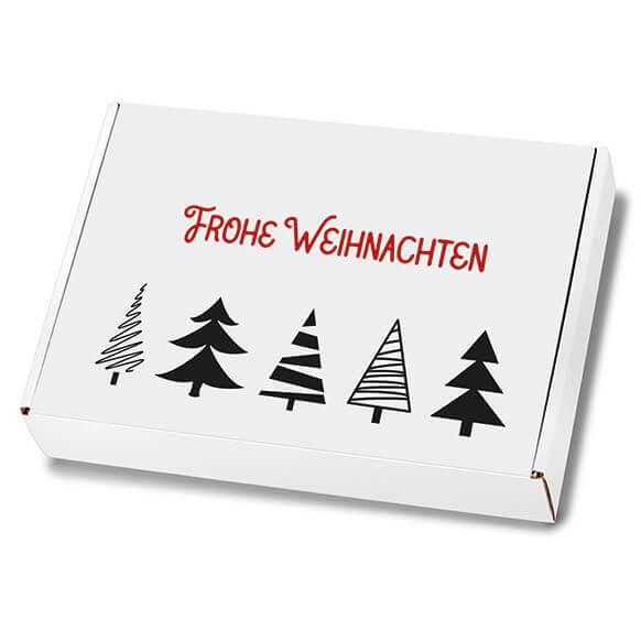 Weihnachtskartons Maxibrief Tannenbaumallee 250x174x50 mm