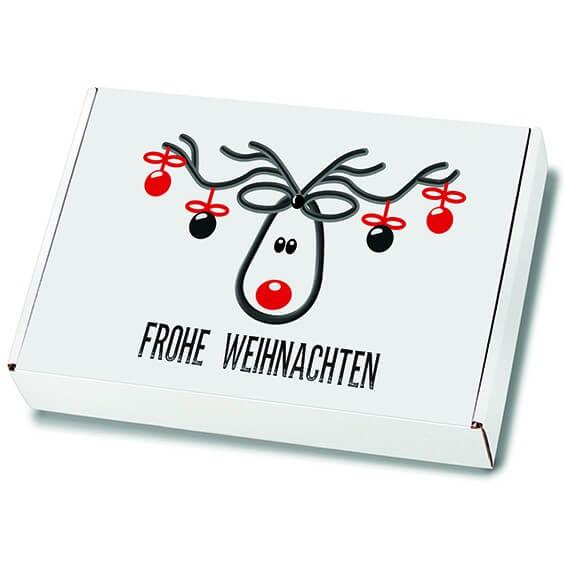 Weihnachtskartons Maxibrief Mr. Jingle 250x174x50 mm