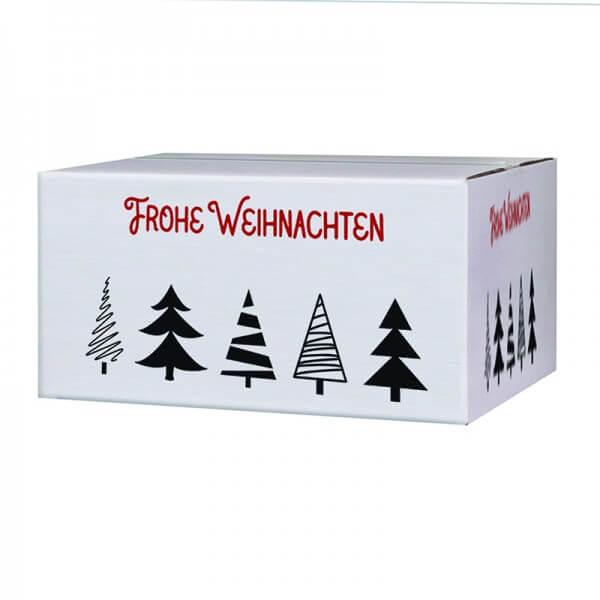 """bedruckte Weihnachtskartons """"Tannenbaumallee"""" 400x300x200 mm, B 1.30 w"""