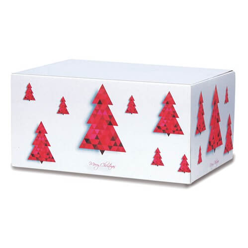Klassisch bedruckte Weihnachtskartons 400x300x200 mm Motiv Tannenbaum