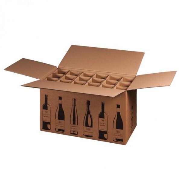 Flaschenkarton für 18 Wein-Sektflaschen