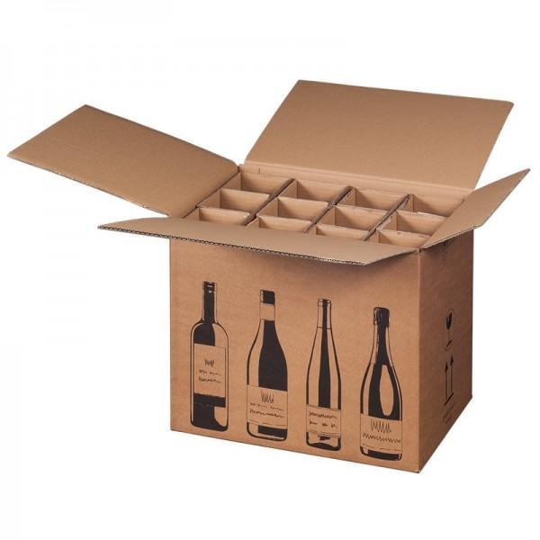 Flaschenkarton für 12 Sekt-Weinflachen 420x305x368 mm