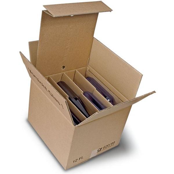 12er Kombiwell Flaschenkarton liegend 385x360x290 mm