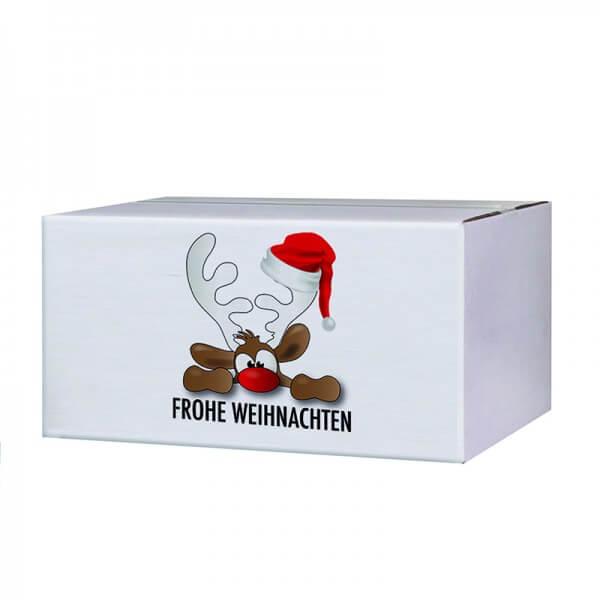 300x215x140 mm Weihnachtskartons Rudolph der Elch B 1.30w