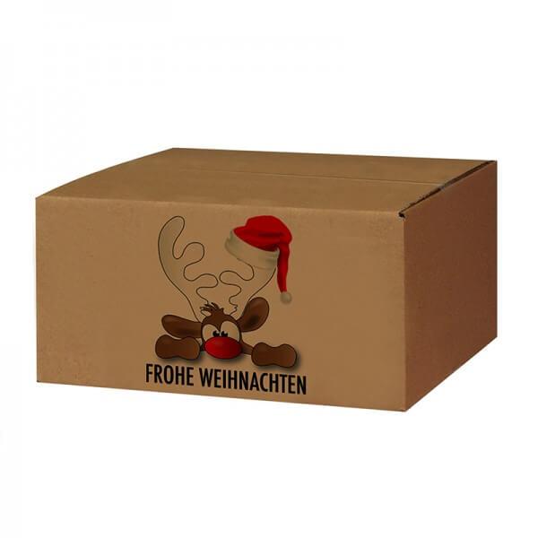 bedruckte Weihnachtskartons Rudolpf der Elch 300x215x140 mm B 1.20 b