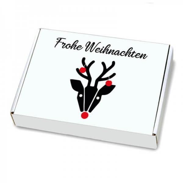 Maxibriefkartons mit Weihnachtsmotiv 350x250x50 mm Hirschkuh Alois
