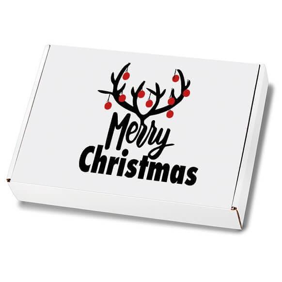 Weihnachtskartons Maxibrief Christmas Bells 250x174x50 mm
