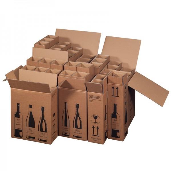 Flaschenverpackung für 21 Wein-Sektflaschen
