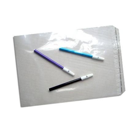 transparente LDPE Adhäsionsverschlußbeutel 225 x 310 mm + 40 mm, 50µ