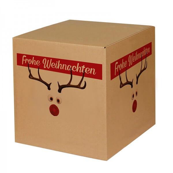 """bedruckte Weihnachtskartons """"Mr. Twinkle"""" 300x300x300 mm, B 1.20 b"""