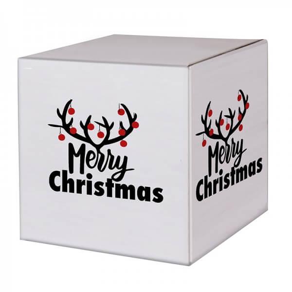 """bedruckte Weihnachtskartons """"Christmas Bells"""" 300x300x300mm, B 1.30 w"""