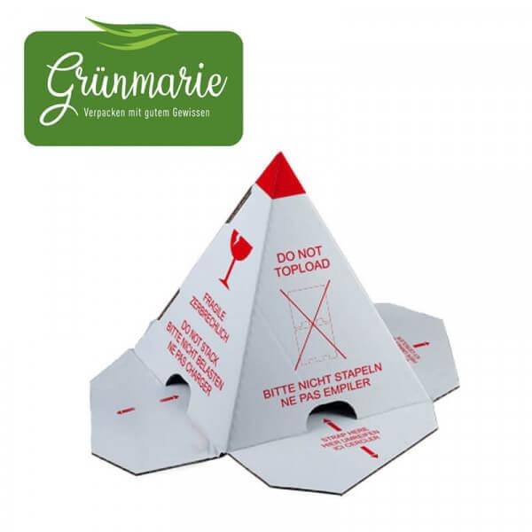 Grünmarie® Palettenhütchen gefertigt aus nachhaltiger Wellpappe. Verpacken mit gutem Gewissen!