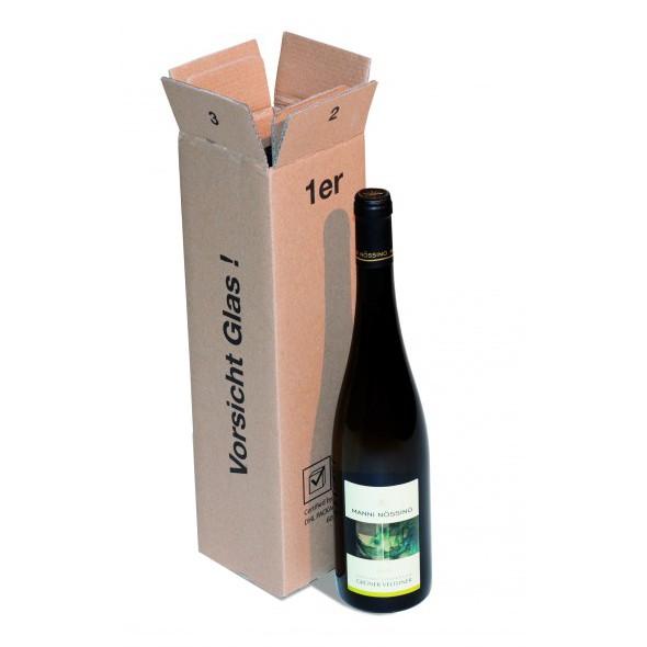 1 er Flaschenkarton für Wein-Sekt 90x90x365 mm