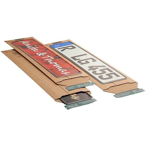 Versandtaschen für KFZ Kennzeichen 590 x 140 x 0-50 mm