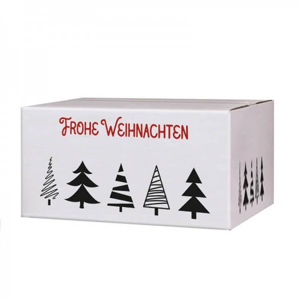 Kartons mit Weihnachtsmotiv Tannenbaumallee 200x150x90 mm