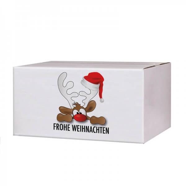 Kartons mit Weihnachtsmotiv Rudolph der Elch 200x150x90 mm