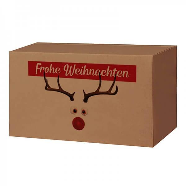 Weihnachtkartons 400x300x200 mm braun mit Druckmotiv Mr. Twinkle