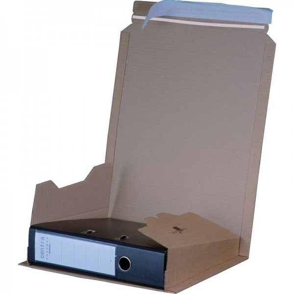Ordner Verpackung 320x290x35-80 mm Quick A4+ braun