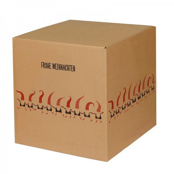 """bedruckte Weihnachtskartons """"Zwergentanz"""" 300x300x300 mm B 1.20 b"""