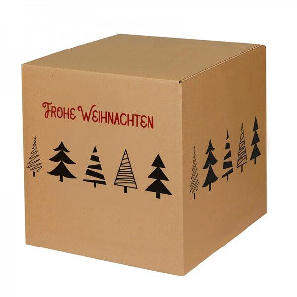 """bedruckte Weihnachtskartons """"Tannenbaumalle"""" 300x300x300 mm B 1.20 b"""