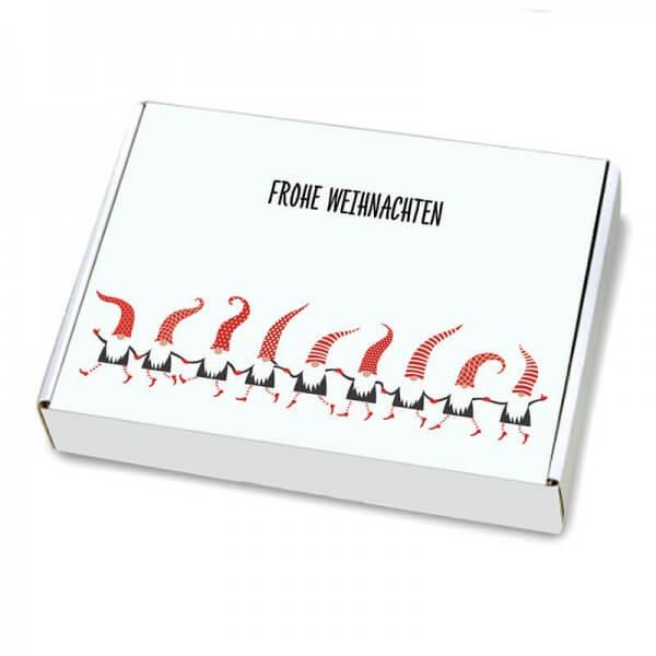 Maxibriefkartons mit  Weihnachtsmotiv Zwergentanz 350x250x50 mm
