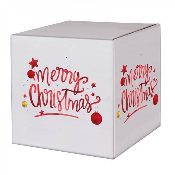 "bedruckte Weihnachtskartons ""Magic Christmas"" 300x300x300mm, B 1.30 w"