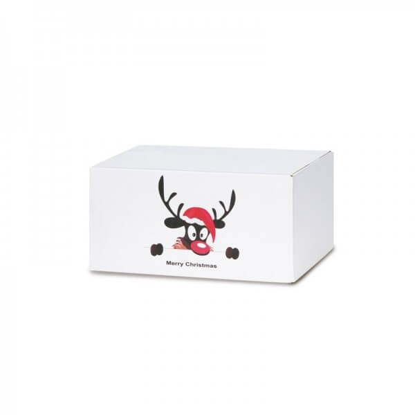 "Weihnachtkartons beruckt ""Weihnachtselch"" 200x150x90 mm"