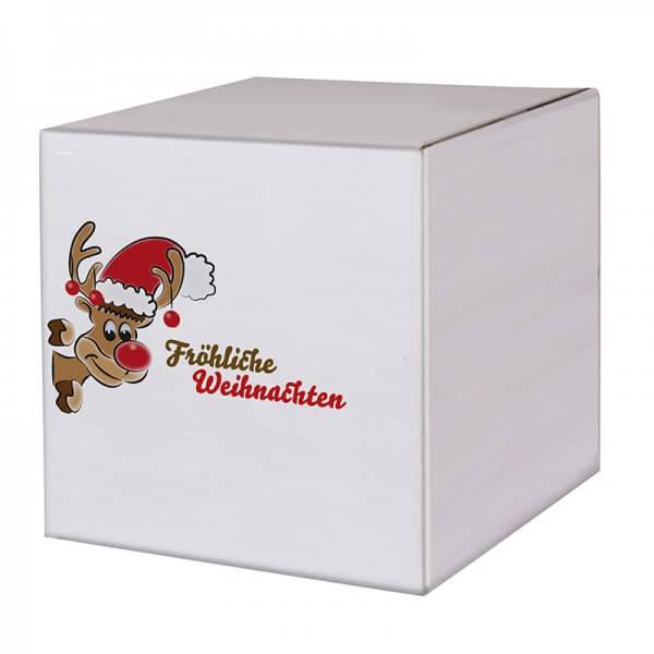 "bedruckte ""Weihnachtskartons Mr. Holly"" 300x300x300mm, B 1.30 w"