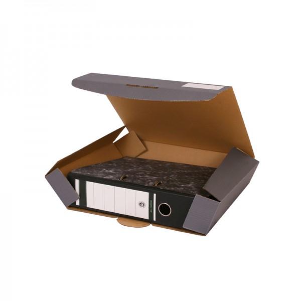 Ordner-Transportbox Quick A4 anthrazit für 50 mm Ordner-Rückenbreite